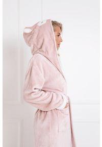 Aruelle - Szlafrok Debbie.bathrobe. Typ kołnierza: kaptur. Kolor: różowy