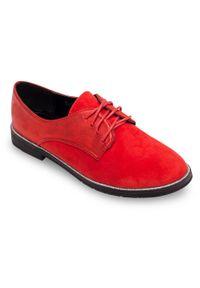 Czerwone półbuty SIXTH SENS klasyczne, w kolorowe wzory