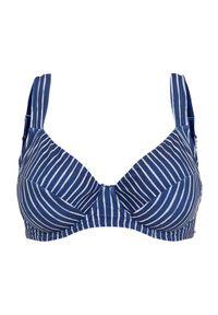 Cellbes Góra od bikini niebieski w paski female niebieski/ze wzorem 105D. Kolor: niebieski. Materiał: poliester. Wzór: paski #1