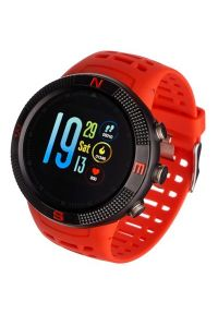 Czerwony zegarek GARETT smartwatch, sportowy