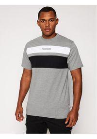 Prosto. - PROSTO. T-Shirt KLASYK Gustafo 9183 Szary Regular Fit. Kolor: szary