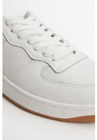 Białe buty sportowe Mango Man z okrągłym noskiem, na sznurówki