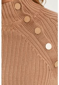 Sportmax Code - Sweter. Typ kołnierza: golf. Kolor: brązowy. Materiał: materiał. Długość rękawa: raglanowy rękaw