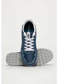 Niebieskie sneakersy Levi's® w kolorowe wzory, z cholewką