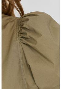 Samsoe & Samsoe - Samsoe Samsoe - Sukienka. Okazja: na co dzień. Kolor: zielony. Materiał: bawełna, tkanina. Długość rękawa: krótki rękaw. Typ sukienki: proste. Styl: casual