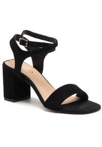 Czarne sandały Edeo casualowe, na co dzień