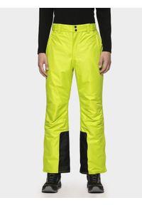 Zielone spodnie narciarskie 4f na zimę