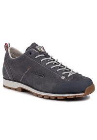 Szare buty trekkingowe Dolomite trekkingowe, z cholewką