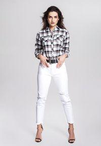 Renee - Biała Koszula Find Support. Kolor: biały. Materiał: jeans. Długość rękawa: długi rękaw. Długość: długie