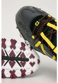 Szare sneakersy Fila z okrągłym noskiem, na sznurówki, z cholewką