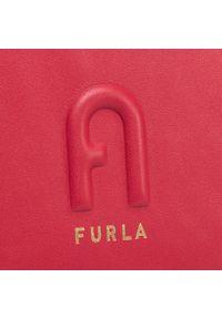 Czerwona kopertówka Furla elegancka, skórzana