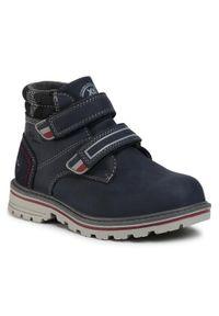Niebieskie buty zimowe Xti na spacer, z cholewką