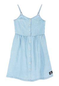Niebieska sukienka Calvin Klein Jeans casualowa, na co dzień