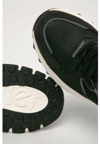 Czarne sneakersy Wrangler na sznurówki, z cholewką