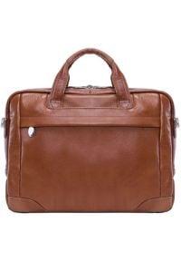 Torba na laptopa MCKLEIN Bronzeville 15.6 cali Brązowy. Kolor: brązowy. Materiał: materiał. Styl: biznesowy