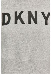 DKNY - Dkny - Bluza. Okazja: na co dzień. Kolor: szary. Długość rękawa: długi rękaw. Długość: długie. Wzór: nadruk. Styl: casual