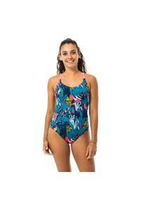 NABAIJI - Strój Jednoczęściowy Pływacki Riana Damski. Kolor: turkusowy, różowy, niebieski, wielokolorowy. Materiał: elastan, poliester, materiał, poliamid