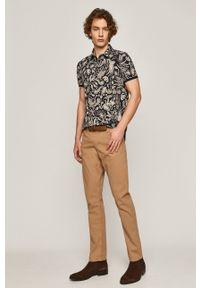 medicine - Medicine - Spodnie Casual Elegance. Okazja: na co dzień. Kolor: brązowy. Styl: casual