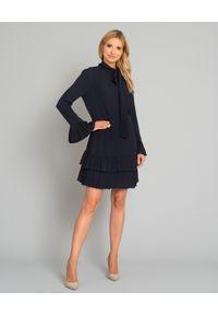 Niebieska sukienka mini VALENTINO prosta, casualowa, na co dzień
