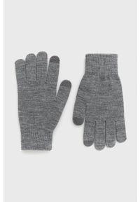 PRODUKT by Jack & Jones - Produkt by Jack & Jones - Rękawiczki. Kolor: szary. Materiał: dzianina, materiał. Wzór: gładki