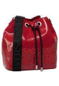 Czerwona torebka worek Versace Jeans Couture casualowa