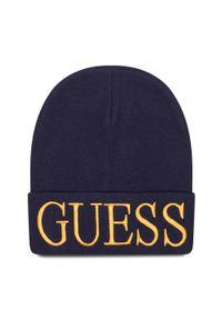Niebieska czapka zimowa Guess