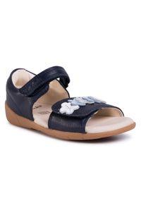 Niebieskie sandały Clarks z aplikacjami
