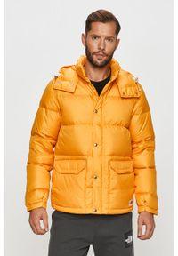 Pomarańczowa kurtka The North Face na co dzień, z kapturem