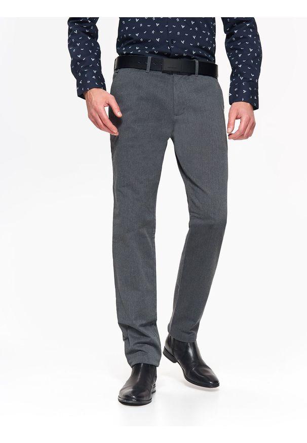 Szare spodnie TOP SECRET na co dzień, na zimę, w kolorowe wzory