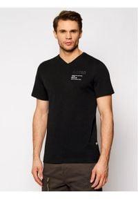 G-Star RAW - G-Star Raw T-Shirt Chest Graphic D19218-336-6484 Czarny Regular Fit. Kolor: czarny