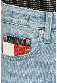 Niebieskie proste jeansy Tommy Jeans z podwyższonym stanem