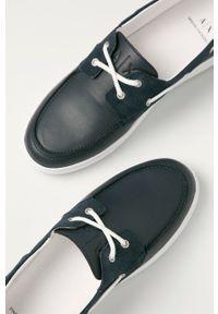 Armani Exchange - Mokasyny. Nosek buta: okrągły. Kolor: niebieski #3