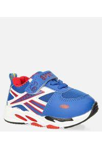 Casu - Niebieskie buty sportowe na rzep casu 20p15/m. Zapięcie: rzepy. Kolor: niebieski