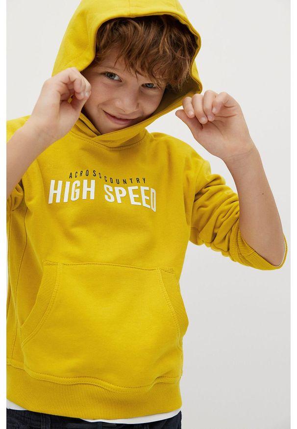 Żółta bluza Mango Kids casualowa, na co dzień