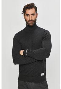 Pepe Jeans - Sweter Daniel. Okazja: na co dzień. Typ kołnierza: golf. Kolor: szary. Materiał: dzianina. Długość rękawa: długi rękaw. Długość: długie. Styl: casual