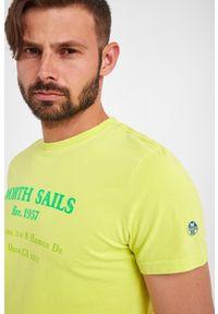 North Sails - T-SHIRT NORTH SAILS. Materiał: włókno, bawełna. Wzór: napisy