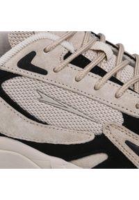 Beżowe sneakersy Sprandi na co dzień, z cholewką