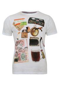 Wielokolorowy t-shirt Brave Soul z nadrukiem, casualowy