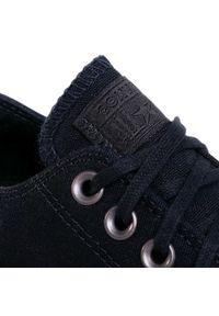 Czarne półbuty casual Converse z cholewką