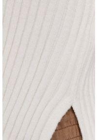 TALLY WEIJL - Tally Weijl - Kardigan. Kolor: biały. Materiał: dzianina. Długość rękawa: długi rękaw. Długość: długie