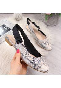Beżowe sandały Sergio Leone
