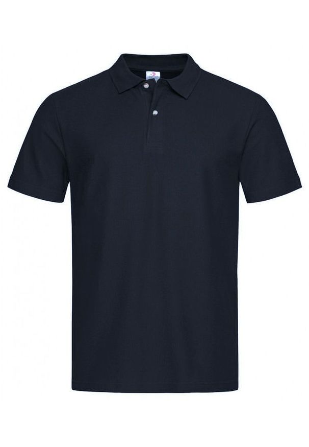 Niebieski t-shirt Stedman krótki, casualowy, z krótkim rękawem, na co dzień