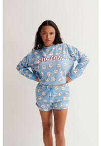 Undiz - Bluza piżamowa The Aristocats. Kolor: niebieski. Długość: długie. Wzór: nadruk