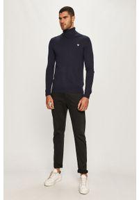 Niebieski sweter Guess Jeans casualowy, na co dzień, z golfem