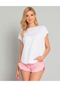 ONETEASPOON - Bluzka Crisp White. Kolor: biały. Materiał: bawełna. Wzór: aplikacja