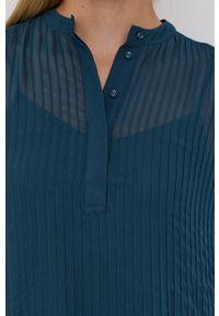 Samsoe & Samsoe - Samsoe Samsoe - Sukienka. Okazja: na co dzień. Kolor: zielony. Materiał: włókno, tkanina, materiał. Długość rękawa: długi rękaw. Wzór: gładki. Typ sukienki: proste. Styl: casual #6