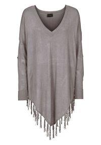 Szary sweter bonprix melanż, elegancki, na zimę