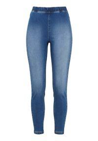 Cellbes Legginsy dżinsowe denim female niebieski 62/64. Kolor: niebieski. Materiał: denim. Wzór: gładki