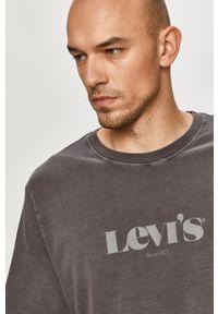 Levi's® - Levi's - T-shirt. Okazja: na spotkanie biznesowe. Kolor: szary. Materiał: dzianina. Wzór: nadruk. Styl: biznesowy