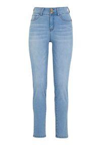 Cellbes Dżinsy z wysokim stanem ze stretchem błękitny denim female niebieski 38. Stan: podwyższony. Kolor: niebieski